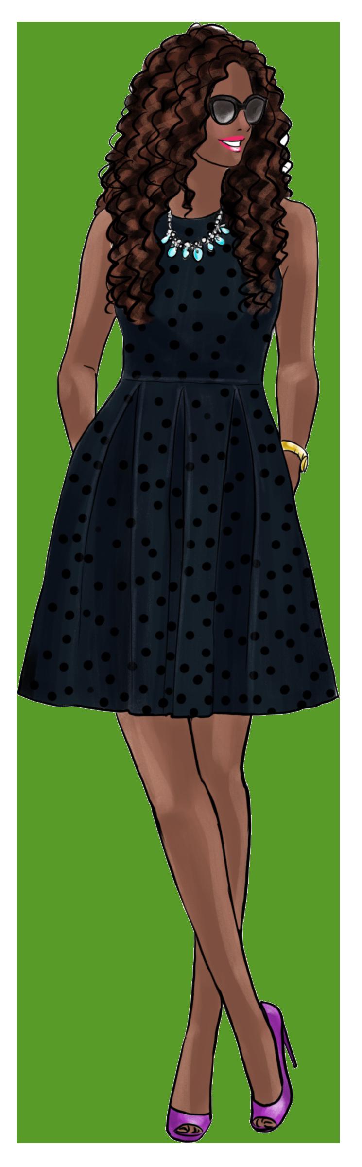 Fashion Girls 36 - dark skin 5 png