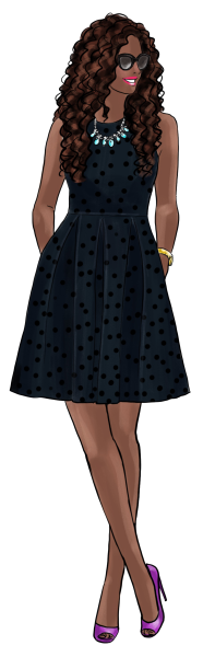 Fashion Girls 36 - dark skin 5 png